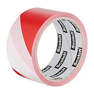 Scotch Red & white Marking tape (L)33m (W)50mm