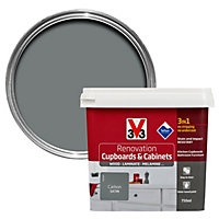 V33 Renovation Carbon Satin Kitchen cupboard & cabinet paint 750 ml