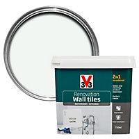 V33 Renovation White Satin Wall tile paint 0.75L