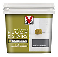V33 Renovation Anthracite Satin Floor & stair paint, 750ml