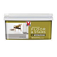 V33 Renovation Loft grey Satin Floor & stair paint, 2L