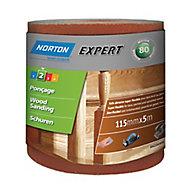 Norton Expert 80 grit Sanding roll (L)5000mm (W)115mm