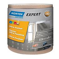 Norton Expert 240 grit Sanding roll (L)5000mm (W)115mm