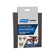 Norton Expert Fine/Medium Sanding sponge, Pack of 2