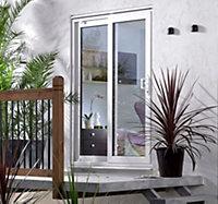 5ft White PVCu Glazed Sliding Patio door, (H)2050mm (W)1490mm