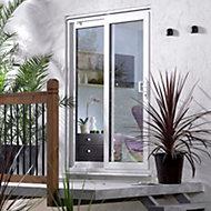 6ft White PVCu Glazed Sliding Patio door, (H)2050mm (W)1790mm