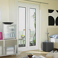 Wimborne 1 Lite Glazed White uPVC External French Door set, (H)2055mm (W)1790mm