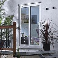 6ft White PVCu Glazed Fixed Patio door panel, (H)2050mm (W)1790mm