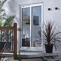 Richmond Clear Double glazed White uPVC Reversible Fixed Patio Door panel, (H)2050mm (W)1790mm