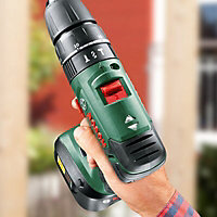 Bosch 18V 2Ah Li-ion Cordless Combi drill 2 batteries PSB1800LI-2