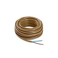 Nexans Brown 2 core Multi-core cable 0.75mm² x 5m