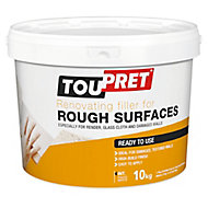 Toupret Rough Surface Ready mixed Finishing plaster, 10kg Tub