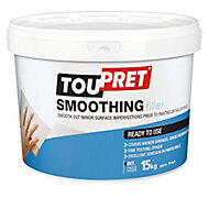 Toupret Fine finish Ready mixed Finishing plaster, 15kg Tub