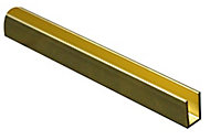 Brass U profile (H)6mm (W)6mm (L)1m