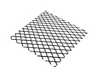 Silver effect Steel Perforated Sheet, (H)500mm (W)250mm (T)0.5mm