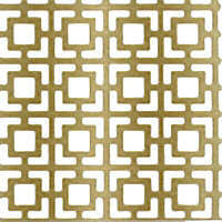 FFA Concept Gold effect Aluminium Embossed Sheet, (H)500mm (W)500mm (T)1mm