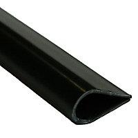 Black PVC Leaf binder (H)8mm (W)15mm (L)1m