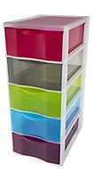 Form Rainbow 5 drawer Polypropylene Multi-drawer unit