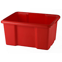 Form Fitty Red 26L Plastic Stackable Storage box