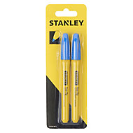 Stanley Blue Permanent marker, Pack of 2