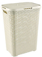 Curver Vintage white Hamper (H)61.5cm (W)44.8cm (D)34.1cm