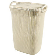 Knit collection White 57L Plastic Storage basket (H)610mm (W)450mm
