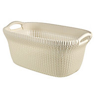 Knit collection Oasis white 40L Plastic Storage basket (H)270mm (W)600mm