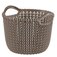Knit collection Harvest brown 3L Plastic Storage basket