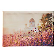 Lavender Purple Canvas (W)650mm (H)450mm