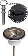 Wirquin Plug & chain basin waste (Dia)32 mm