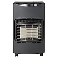 Greengear Coal black 4.2kW Mobile gas heater