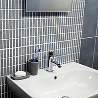 Trendino Blue & grey Ceramic Wall tile, Pack of 14, (L)500mm (W)200mm