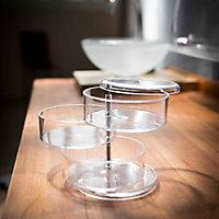 Cooke & Lewis Plastic Transparent Organiser