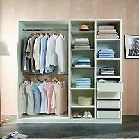 Form Darwin Modular White Wardrobe cabinet (H)2004mm (W)1000mm (D)566mm