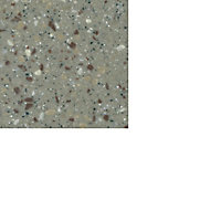 34mm Coffee Brown Stone effect Earthstone Round edge Kitchen Breakfast bar Worktop, (L)1800mm