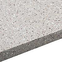 34mm Coffee Brown Stone effect Earthstone Round edge Kitchen Breakfront Worktop, (L)3000mm
