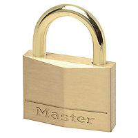 Master Lock Brass 4-pin tumbler cylinder Open shackle Padlock (W)45mm