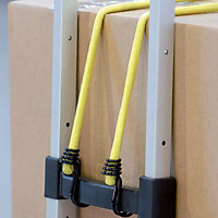 Master Lock Black & yellow Bungee cords (L)1m, Pack of 2