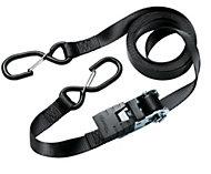 Master Lock Black 4.25m Ratchet strap, Pack of 2