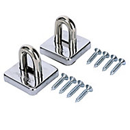 Master Lock Steel Ground & wall anchor (W)53mm, Pack of 2