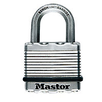 Master Lock Excell Stainless steel Cylinder Open shackle Padlock (W)45mm