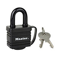 Master Lock Weather tough Laminated steel Keyed Hardened steel Padlock (W)40mm