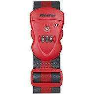 Master Lock Polyester TSA 3 digit combination Luggage strap (W)25mm