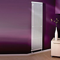 Acova Striane Vertical Designer radiator White (H)2000 mm (W)494 mm