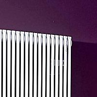 Acova Striane Vertical Designer radiator White (H)2000 mm (W)608 mm