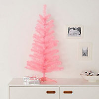 """36"""" Orelle Pink tinsel Artificial Christmas tree"""
