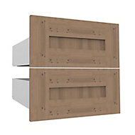 Form Darwin Modular Oak effect External Drawer (H)237mm (W)500mm (D)566mm, Pack of 2