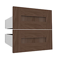 Form Darwin Modular Walnut effect External Drawer (H)237mm (W)500mm (D)566mm, Pack of 2