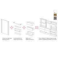 Form Oppen Oak effect Door/Drawer front (H)237mm (W)997mm