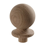 Oak Ball cap (L)85mm (H)95mm (W)85mm